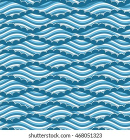 Sea wave pattern, seamless. Vector EPS 8.