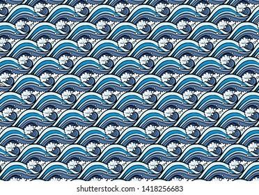 sea wave pattern vector, sea wave backdrop