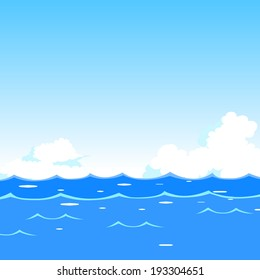 Sea waves background