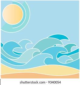 sea waves,sun and beach