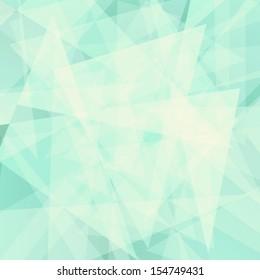 Seafoam green geometric vector background