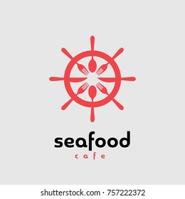 Seafood Cafe Logo, Vector EPS 8