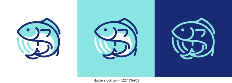 Seafood fish icon logo symbol