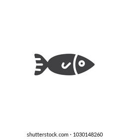 Seafood, fish vector icon. filled flat sign for mobile concept and web design. simple solid icon. Fishing symbol, logo illustration. Pixel perfect vector graphics