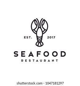 Seafood / Lobster / Crawfish logo design inspiration
