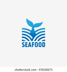 Seafood logo template design. Vector illustration.