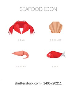 seafood polygonal simple origami collection