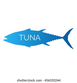 Seafood Tuna simple vector illustration