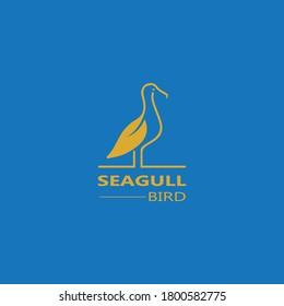 Seagull  Bird logo icon  vector designs template  - Vector