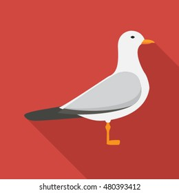seagull flat icon. You can be used seagull icon for several purposes like: websites, UI, UX, print templates, promotional materials, info-graphics, web and mobile phone apps.