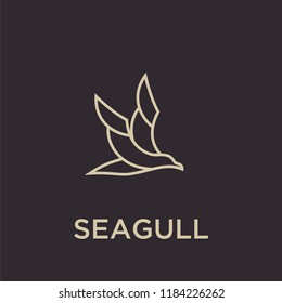 seagull logo icon designs vector