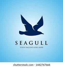 seagull logo icon designs vector