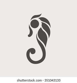 seahorse logo vector