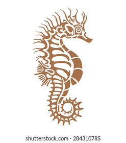 f19f5d389 seahorse, made in one color under the stencil can decorate your plaster  imprint of antiquity