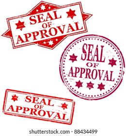 Seal of approval. Rubber stamp vectors