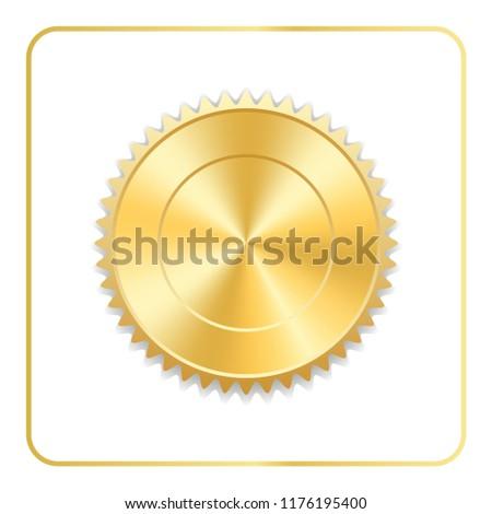 seal award gold icon blank medal stock vector royalty free