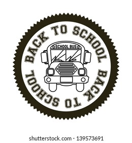 seal back to school over white background vector illustration