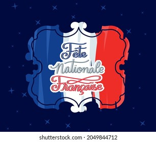 seal with fete nationale francaise