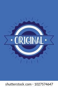 seal original stamp vector colorful