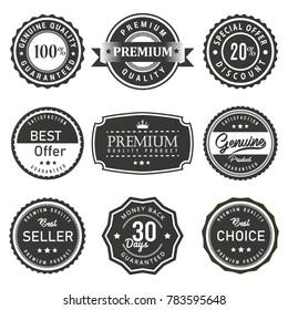 seal premium quality labels