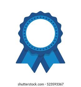 Seal ribbon blue vector
