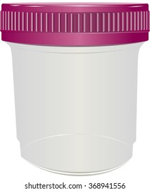 Sealed plastic container for medical purposes. Vector illustration.