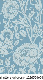 seamles floral pattern William Morris vector