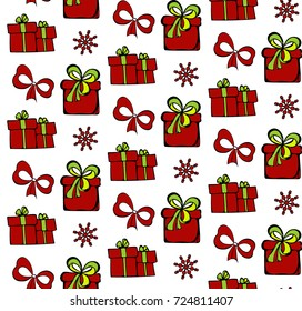 seamles pattern of Christmas gifts