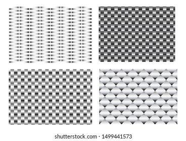 Seamless 3D weave metal pattern for texture vector