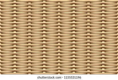 Seamless 3D weave rattan pattern, vector art