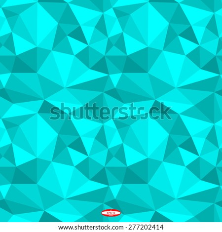 Seamless Abstract Angular Cyan Pattern Triangle Stock Vector Adorable Angular Pattern