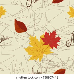 seamless abstract autumn background
