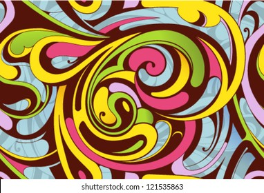 Seamless abstract background. Liquid fusion
