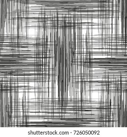 Seamless abstract black and white lines pattern.