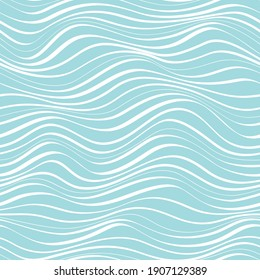 seamless abstract  blue and white  background. Sea water waves.
