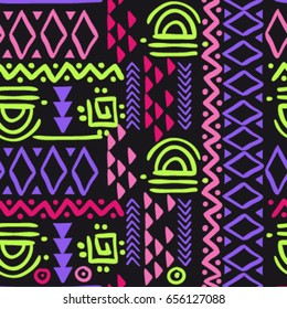 Seamless abstract boho pattern. Colorful pattern for boy and girl, for fabric textiles clothes.