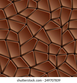 Seamless abstract brown chocolate texture mosaic pattern or tile