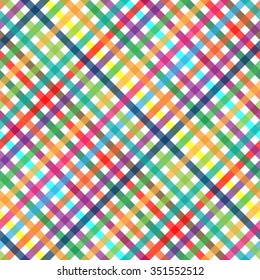 seamless abstract checkered background with multi colored lines