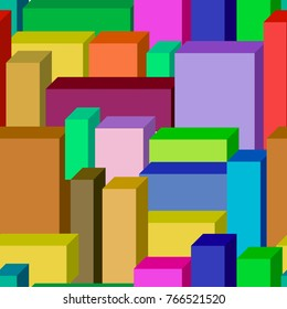 Seamless abstract city pattern