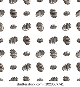 Seamless abstract conceptual hand drawn mixed or mutiple shapes. Good for web page, graphic design, catalog, texture or background. Cartoon style vector.