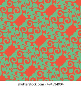 Seamless abstract damask pattern background tile