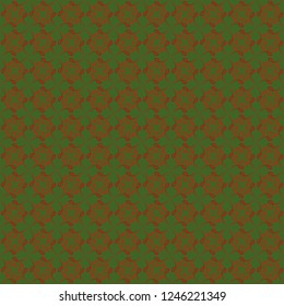 Seamless abstract ethnic pattern vector. Design diagonal floral lines polar red on green background. Design print for textile, wallpaper, background, paper. Set 12