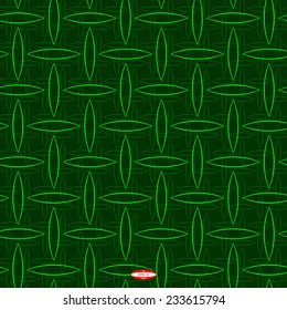 seamless abstract floral pattern green line pistachio ellipse on green background vector