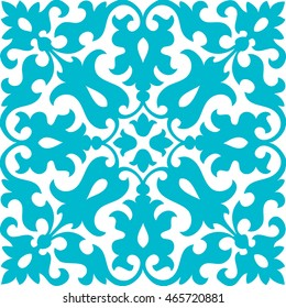 Seamless abstract flower and leaf ornament pattern
