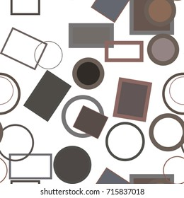 Seamless abstract geometric background with shape of ellipse & square box pattern. Vector illustration graphic.
