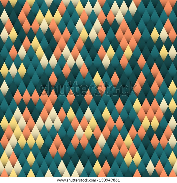 Seamless abstract geometric background, vector illustration
