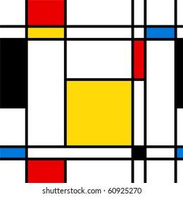 Nahtlose abstrakte geometrische, bunte Vektorgrafik für kontinuierliche Replikation.
