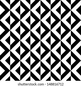 Seamless abstract geometric decorative background