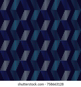 Seamless abstract geometric halftone pattern. Dots texture. Textile rapport.
