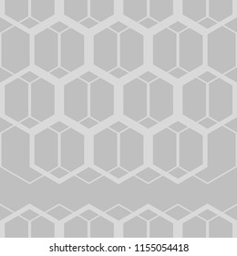 Seamless abstract geometric pattern. Black-and-white figures of hexagons. Textile rapport.